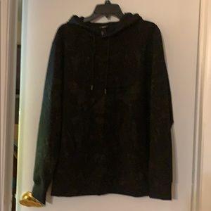 Men's black, sweater hoodie